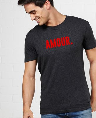 T-Shirt homme Amour (effet velours)