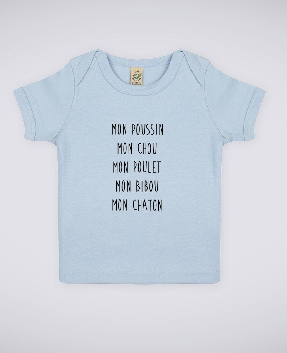 T-Shirt bébé Mon poussin