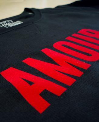 T-Shirt homme Amour (effet velours)