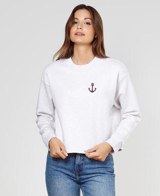 Sweatshirt femme Ancre (effet velours)