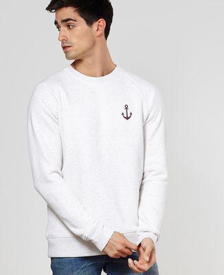 Sweatshirt homme Ancre (effet velours)