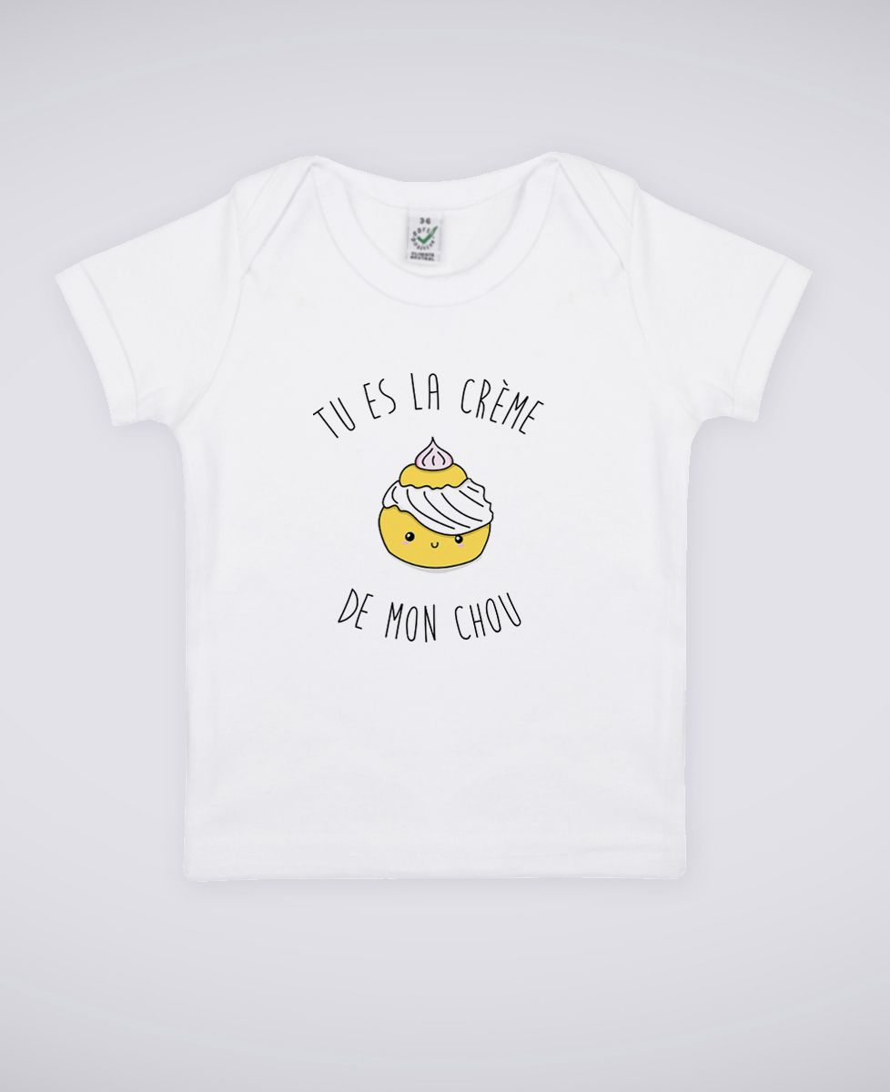 T-Shirt bébé Tu es la creme