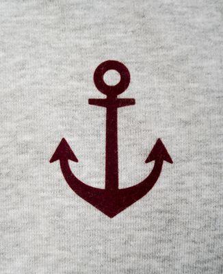 T-Shirt femme Ancre (effet velours)