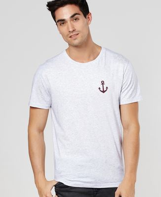 T-Shirt homme Ancre (effet velours)