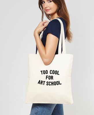 Tote bag Too cool for school