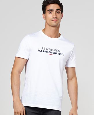 T-Shirt homme Le mari idéal n'a pas de cheveux