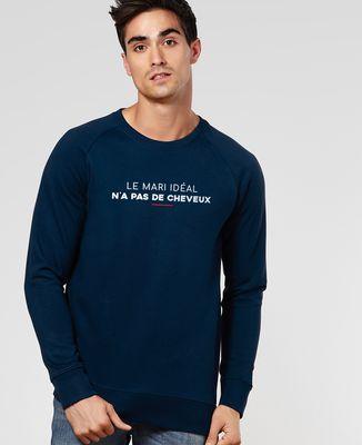 Sweatshirt homme Le mari idéal n'a pas de cheveux