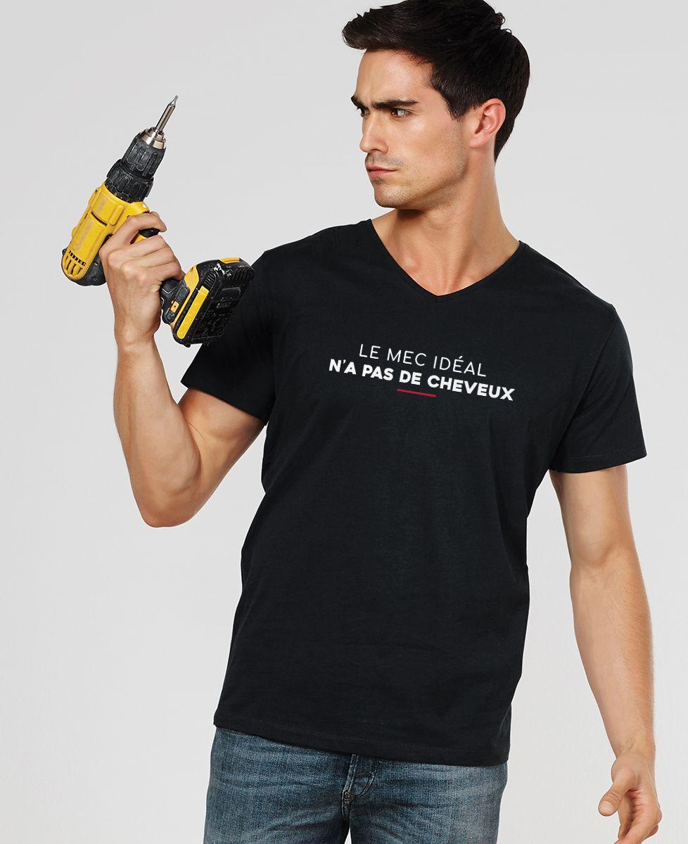 T-Shirt homme Le mec idéal n'a pas de cheveux