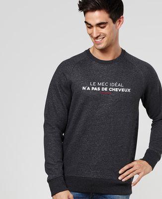 Sweatshirt homme Le mec idéal n'a pas de cheveux