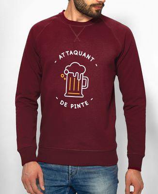 Sweatshirt homme Attaquant de pinte