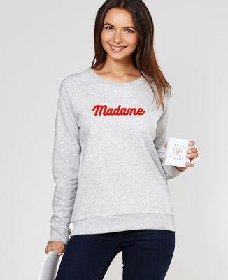 Sweatshirt femme Madame (effet velours)