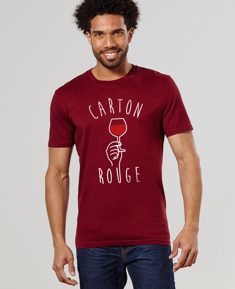 T-Shirt homme Carton rouge