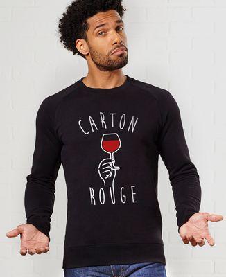 Sweatshirt homme Carton rouge
