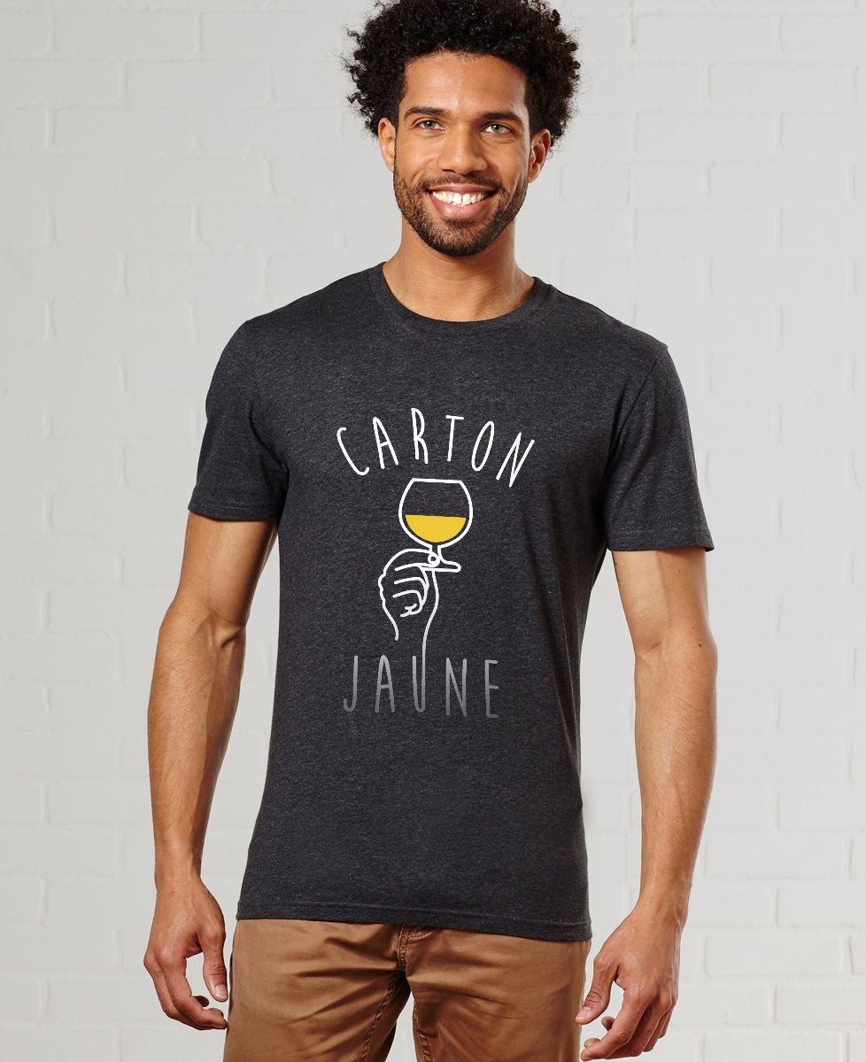 T-Shirt homme Carton jaune