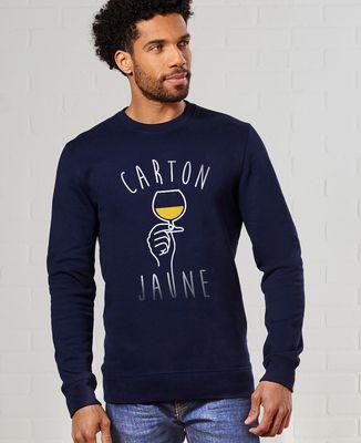 Sweatshirt homme Carton jaune