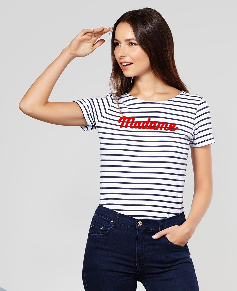 T-Shirt femme Madame (effet velours)