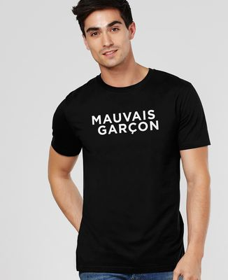 T-Shirt homme Mauvais garçon (effet velours)