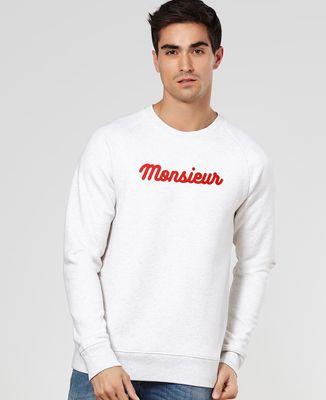 Sweatshirt homme Monsieur (effet velours)