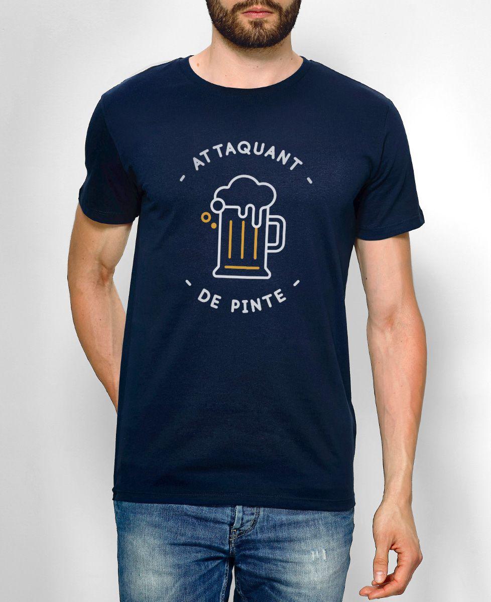 T-Shirt homme Attaquant de pinte