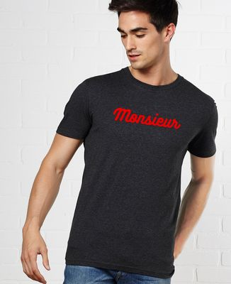 T-Shirt homme Monsieur (effet velours)