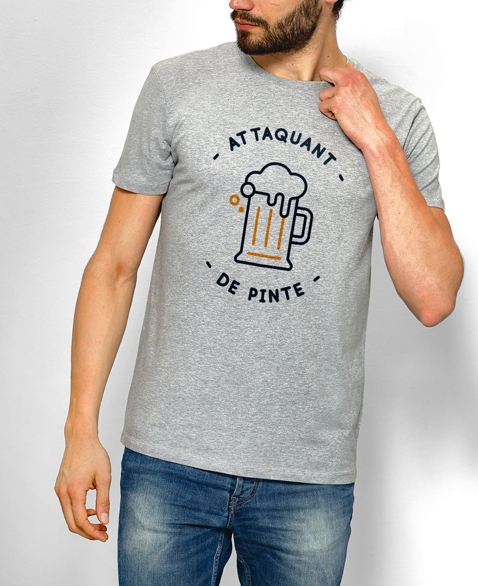 t shirt attaquant de pinte monsieur tshirt mode homme football. Black Bedroom Furniture Sets. Home Design Ideas