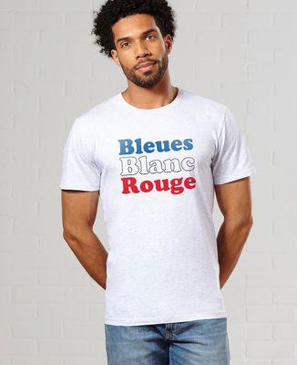 T-Shirt homme Bleues blanc rouge