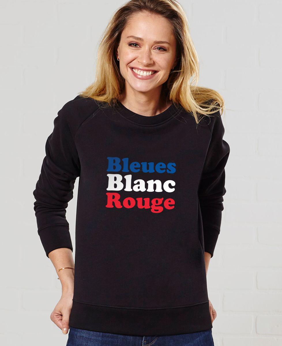 Sweatshirt femme Bleues blanc rouge