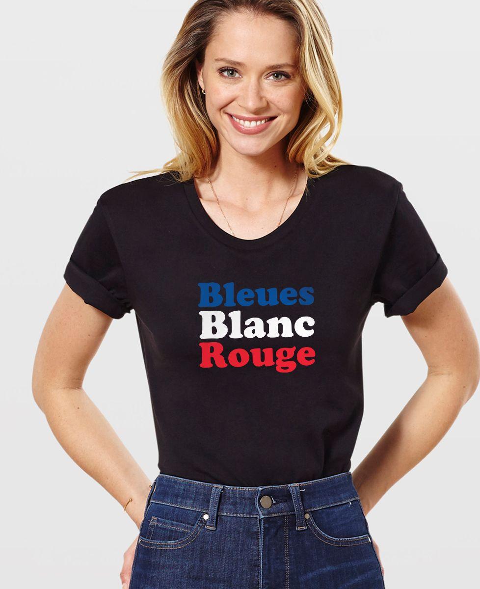 T-Shirt femme Bleues blanc rouge