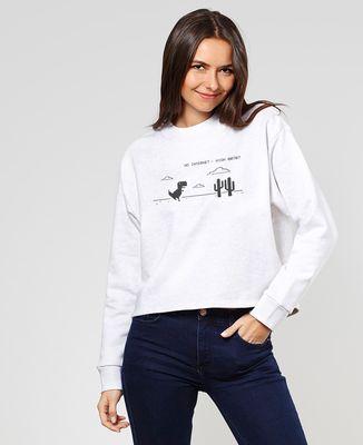 Sweatshirt femme Pas de connexion Internet