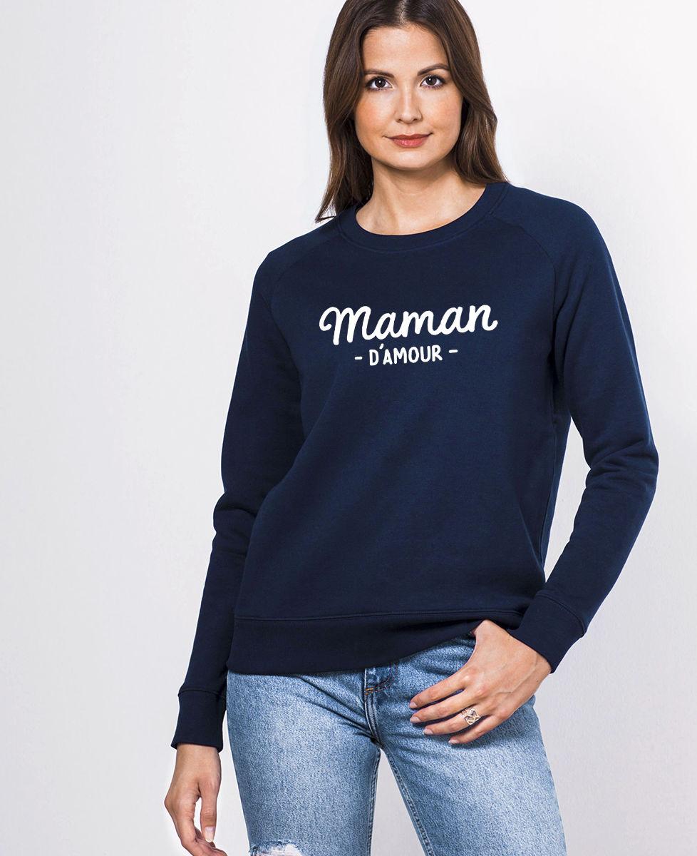 Sweatshirt femme Maman d'amour