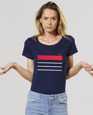 T-Shirt femme France deux étoiles