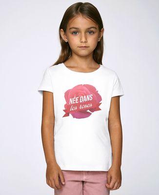 T-Shirt enfant Née dans les roses