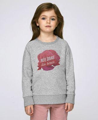 Sweatshirt enfant Née dans les roses