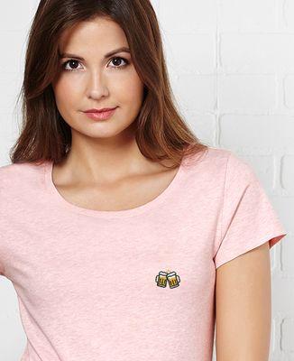 T-Shirt femme Pintes de bière (brodé)