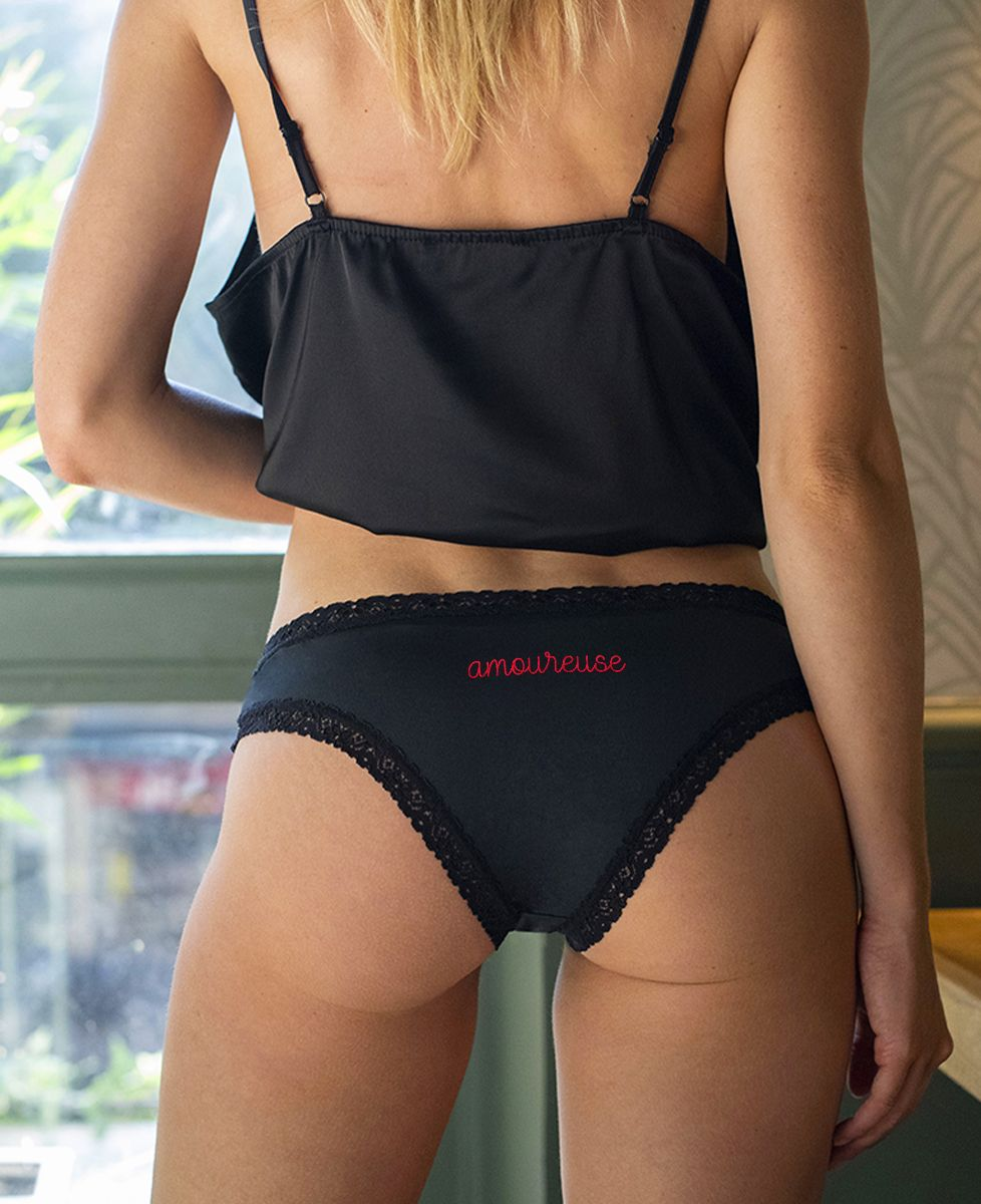 Culotte Amoureuse (brodé à l'arrière)
