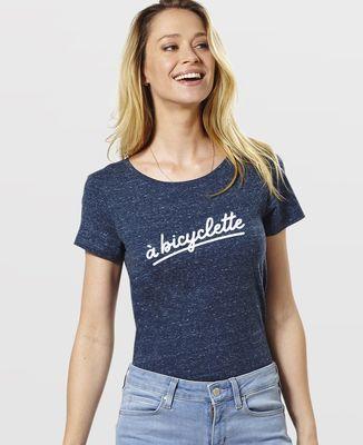 T-Shirt femme À bicyclette (effet velours)