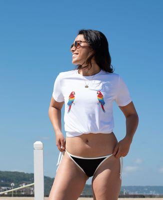T-Shirt femme Perroquets