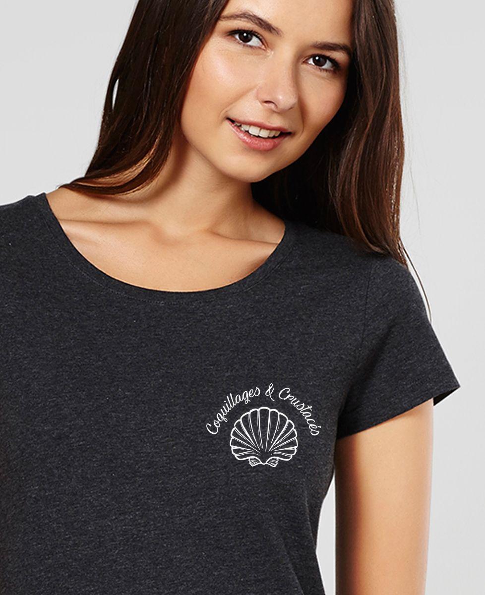 Femme T Shirt Coquillages Et Crustacés 0OPkw8n
