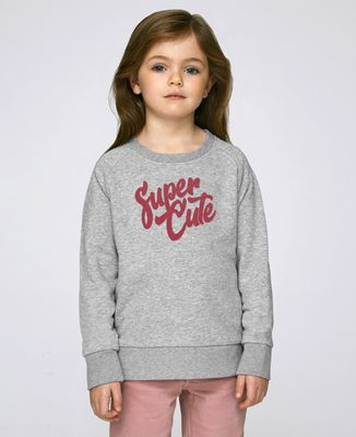 Sweatshirt enfant Super Cute (effet velours)