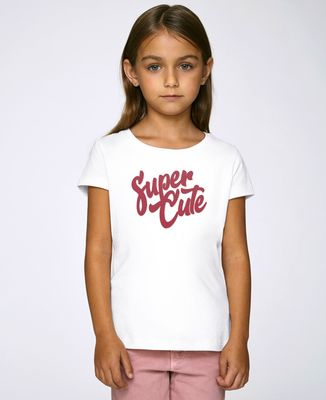 T-Shirt enfant Super Cute (effet velours)