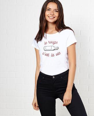 T-Shirt femme Le rouge c'est la vie