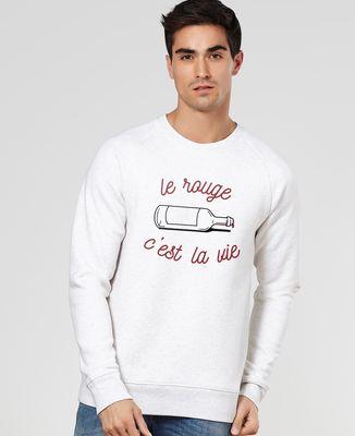Sweatshirt homme Le rouge c'est la vie