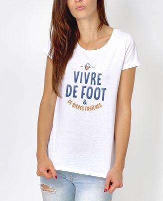 T-Shirt femme Vivre de foot