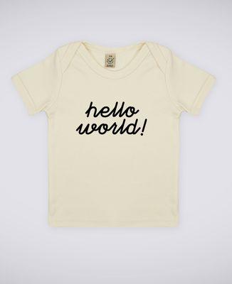 T-Shirt bébé Hello World