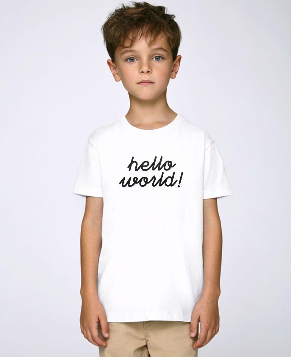 T-Shirt enfant Hello World