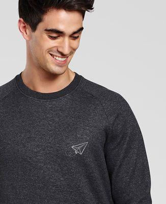 Sweatshirt homme Paper plane (brodé)