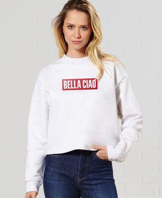 Sweatshirt femme Bella Ciao (effet velours)