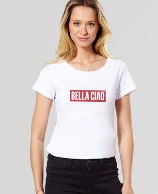 T-Shirt femme Bella Ciao (effet velours)