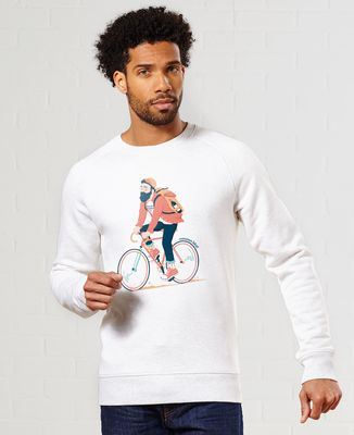 Sweatshirt homme Le bicycle de la vie