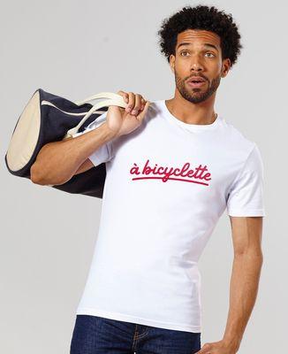 T-Shirt homme À bicyclette (effet velours)